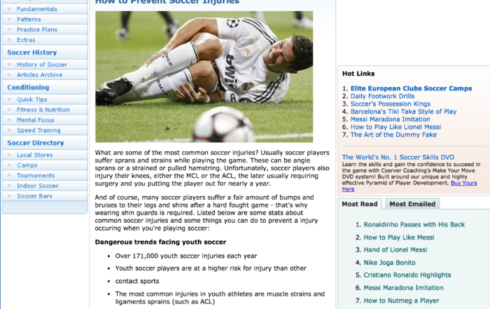 stop soccer injuries